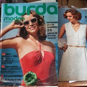 70s Vintage Fashion Magazine: Burda Moden